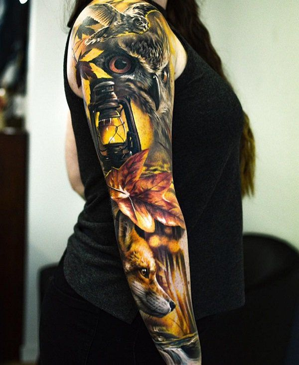 100+ Awesome Examples of Full Sleeve Tattoo Ideas   Art and Design