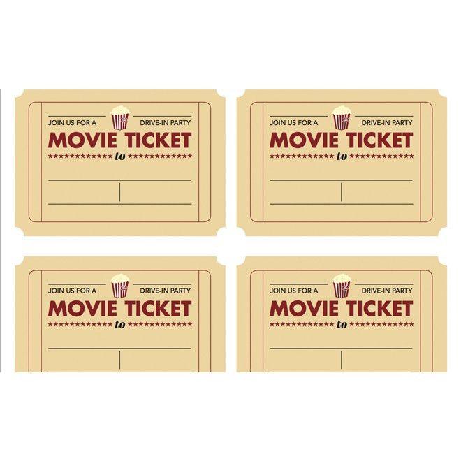 Movie Ticket Template Free 40 Free Editable Raffle Movie Ticket - printable ticket template free