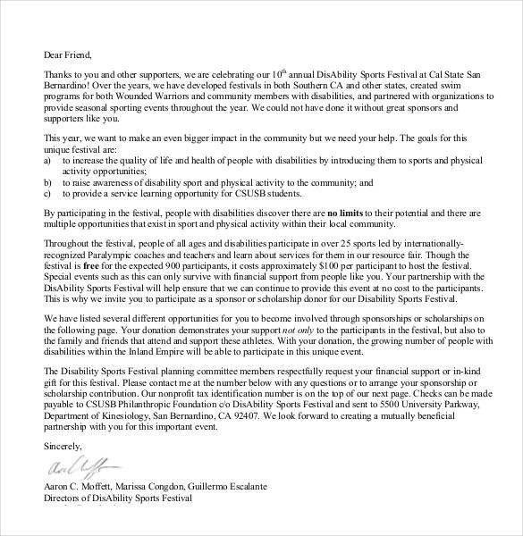 ... Sponsorship Cover Letter Sponsorship Proposal Cover Letter   Festival  Director Cover Letter ...