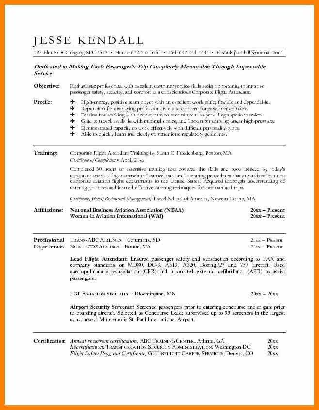Flight Attendant Resume Example Attendant Resume, Flight - sample flight attendant resume