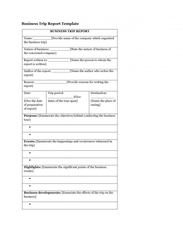 business tour report format env-1198748-resumecloud