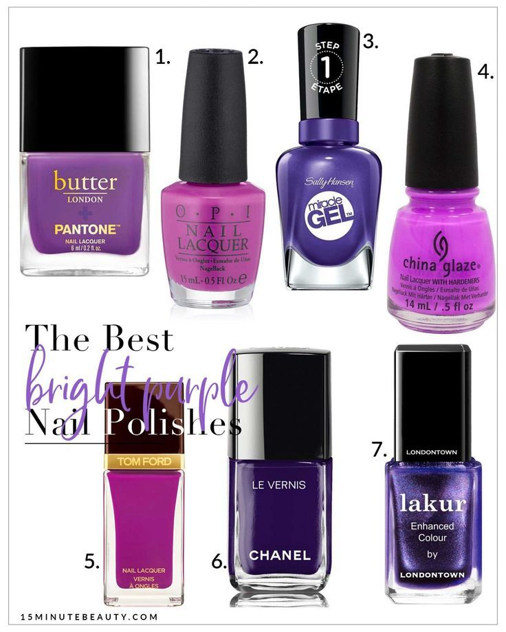 The Best Bright Purple Nail Polishes