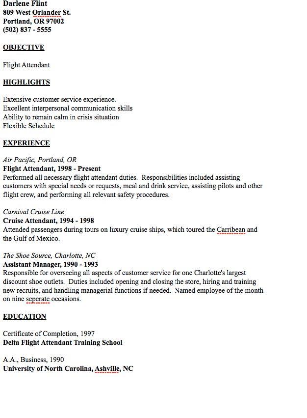 Cruise Attendant Sample Resume Cruise Attendant Sample Resume - cruise attendant sample resume