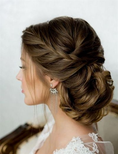 "Side French Braid Low Wavy Bun Wedding Hairstyle #""weddinghairstyles"" <a class=""pintag"" href=""/explore/FrenchBraid/"" title=""#FrenchBraid explore Pinterest"">#FrenchBraid</a><p><a href=""http://www.homeinteriordesign.org/2018/02/short-guide-to-interior-decoration.html"">Short guide to interior decoration</a></p>"