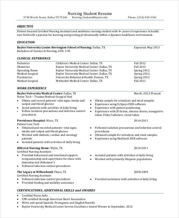 Healthcare Resume Objective Examples - Examples of Resumes - medical resume objective examples