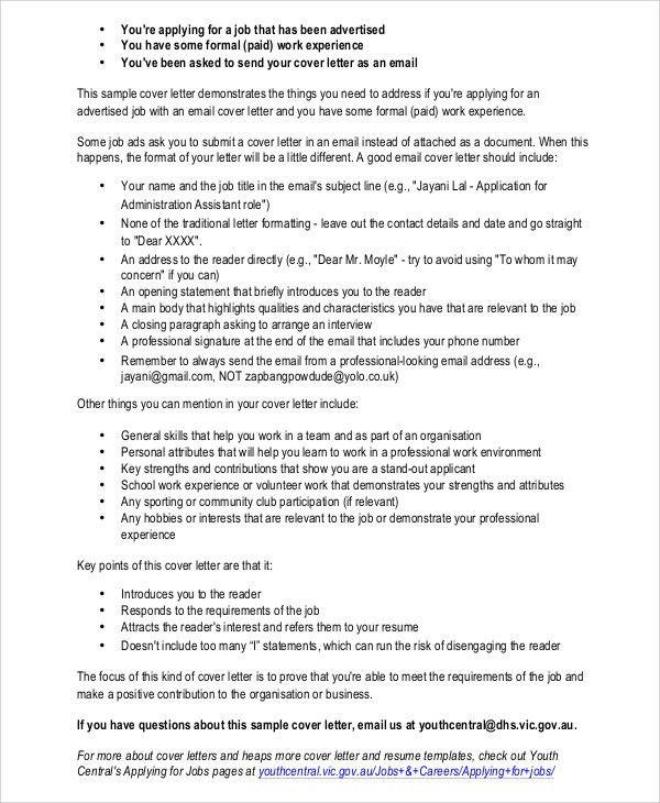 Web services manager cover letter