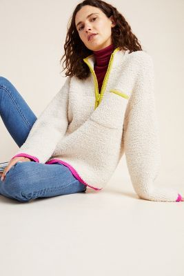 Stasia Sherpa Pullover | Anthropologie