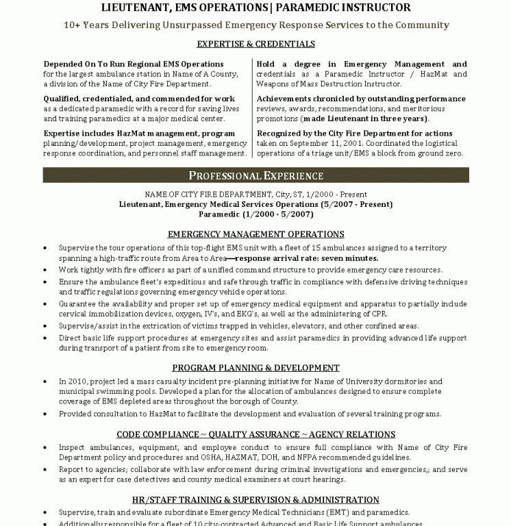 Emt Basic Resume Node2001 Cvresume Paasprovider Com