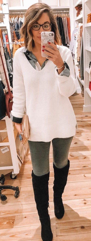 white cardigan