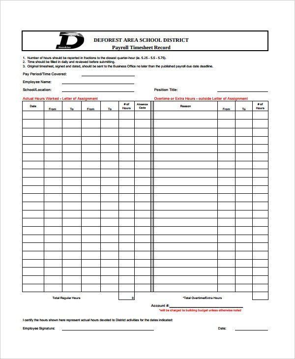 ... Employee Payroll Record Template Payroll Template Free Employee   Excel  Templates For Payroll ...  Employee Payroll Record Template