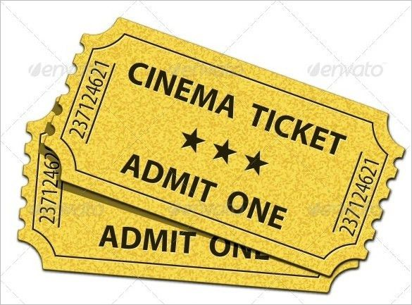 Admit One Ticket Template Free Free Printable Admit One Ticket - movie theater ticket template