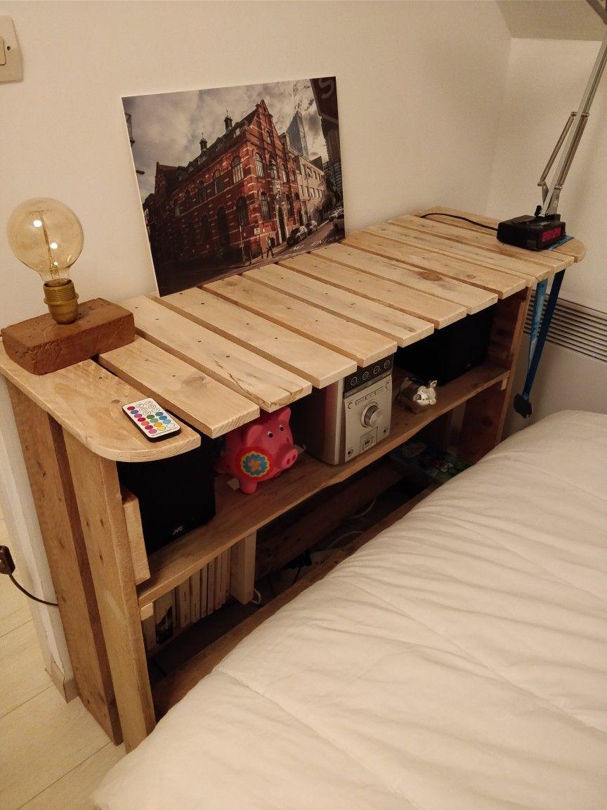 Tele Au Pied Du Lit meuble pied de lit ! fait maison en recyclant des palettes