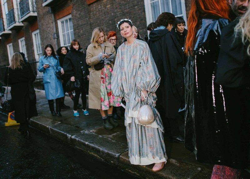 Best London Fashion Week Street Style:  Lauren Levinson in Simone Rocha