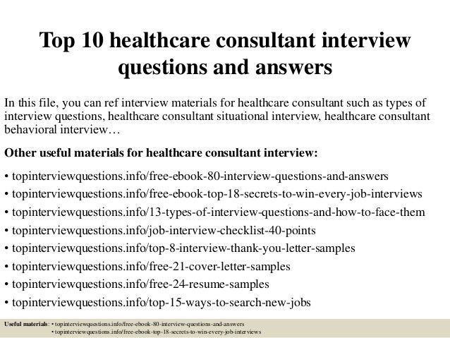 Sample Healthcare Consultant Resume] Healthcare Consultant ...