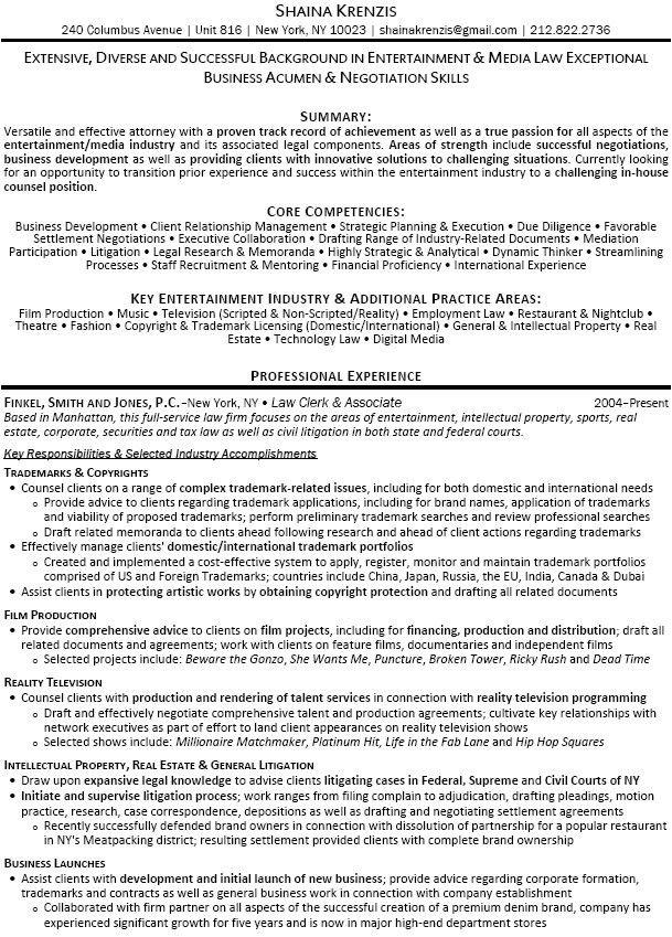 trademark attorney resume - Militarybralicious - corporate attorney resume