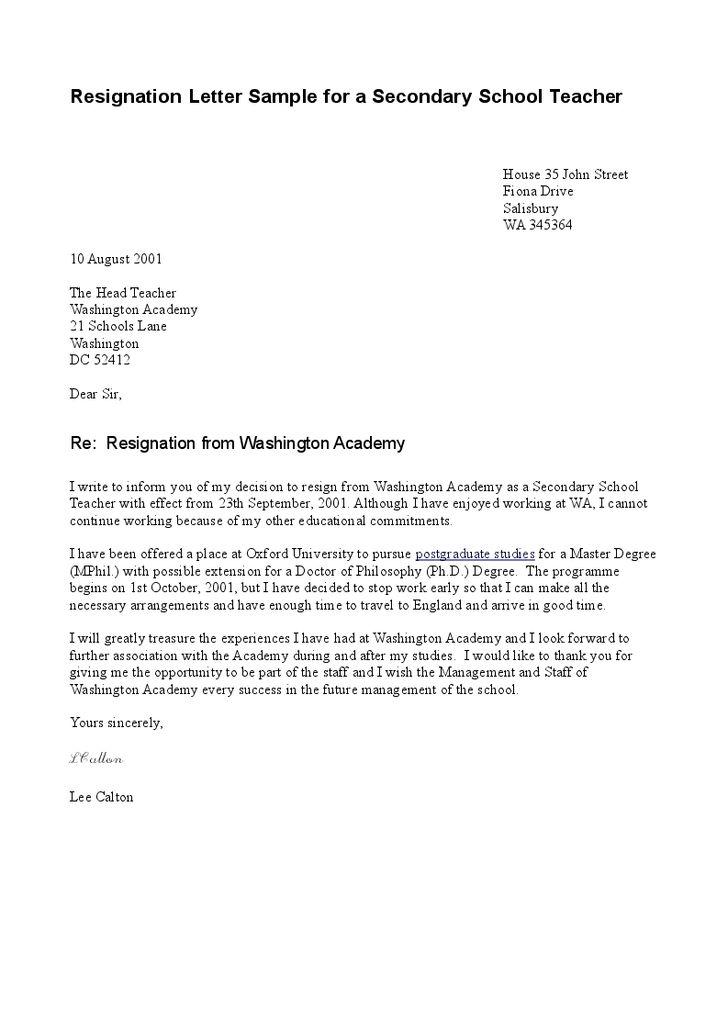 Formal Letter For Teacher Formal Letter To Teacher Sample Just - teacher resignation letter
