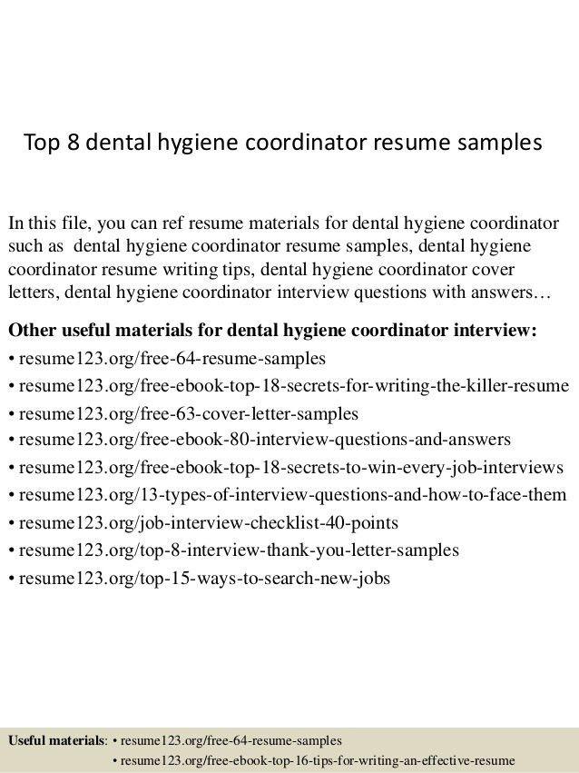 Examples Of Dental Hygiene Resumes Hygienist Resume Dental Sample Resume  For Dental Hygienist   Sample Dental  Resume For Dental Hygienist