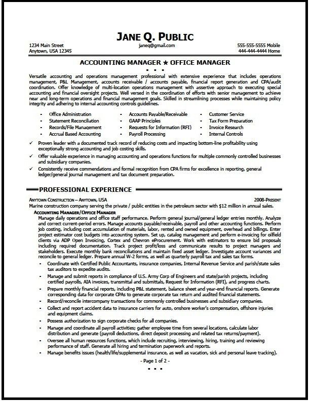 Supervisor Resume Examples 2012 - Examples of Resumes