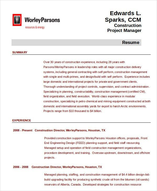 construction management resume examples construction manager construction manager resume example - Construction Management Resume