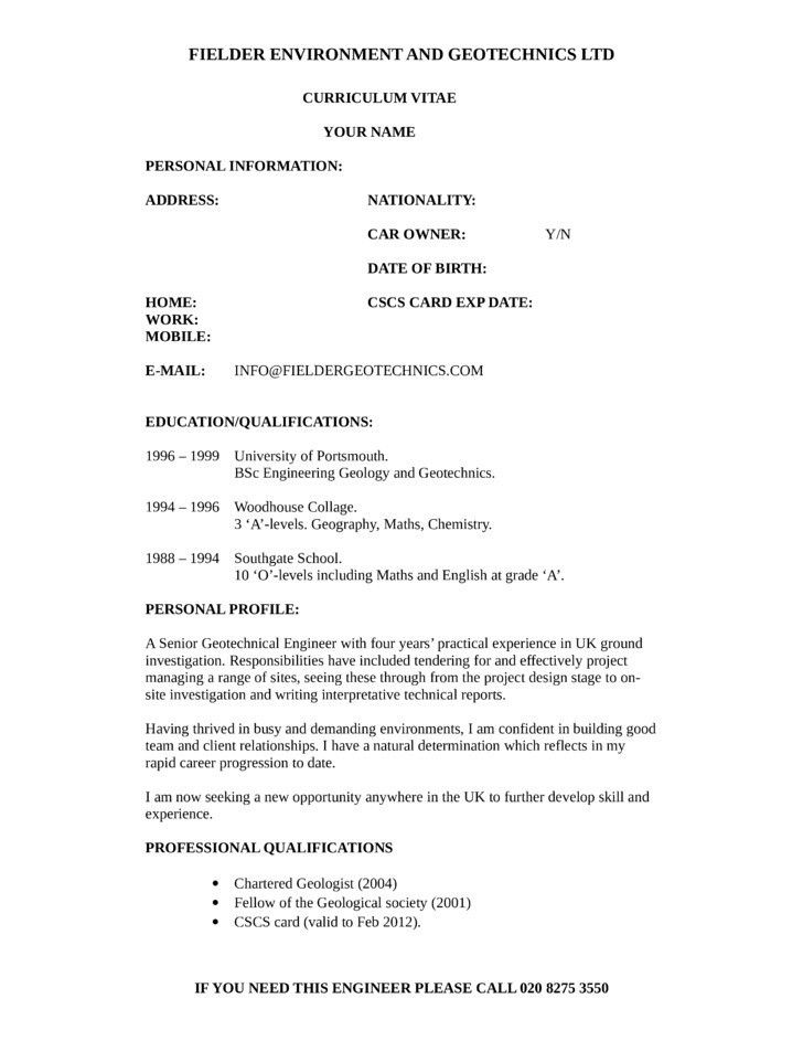 Geotechnical Engineer Cover Letter. Geotechnical Engineer Cover