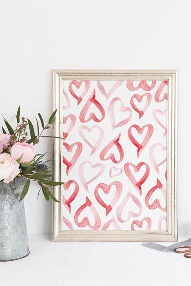 DIY Heart Pattern Frame Decor #heartpattern #diyart