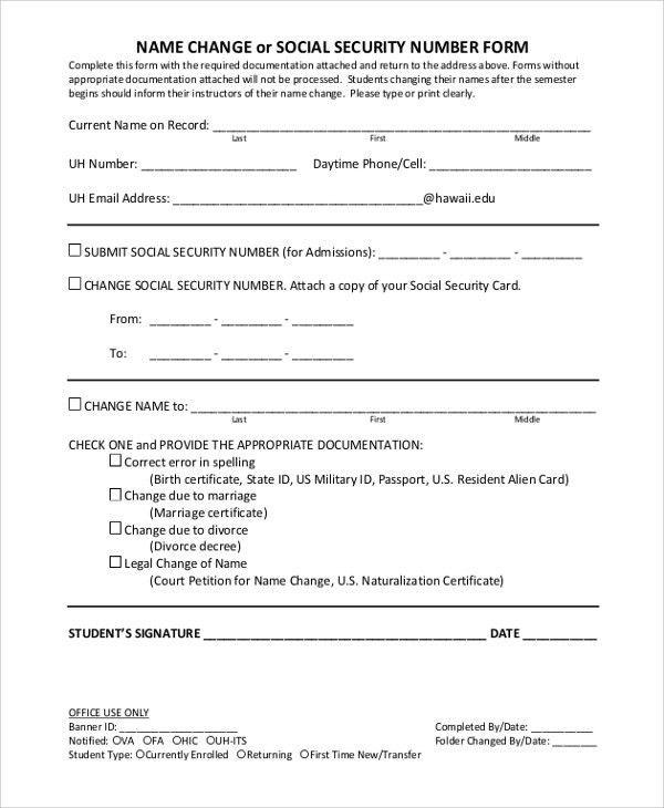 Change Of Address Printable Form Download Usps Change Of Address - social security form