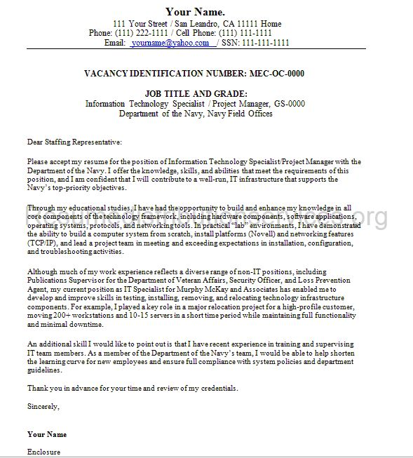 Government Job Cover Letter Resume Examples For Government Jobs - cover letters with resume