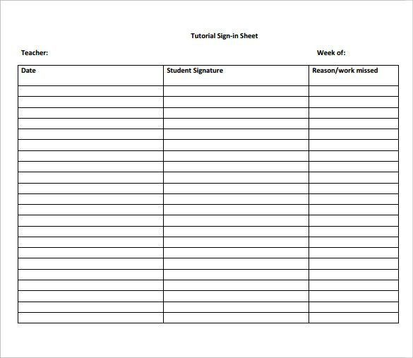 ... Student Sign Up Sheet Free Printable Sign Up Sheets For   Printable Sign  Up Sheets ...