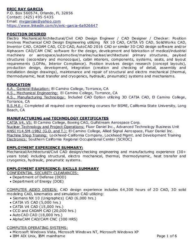 Aerospace Design Engineer Sample Resume] Download ...