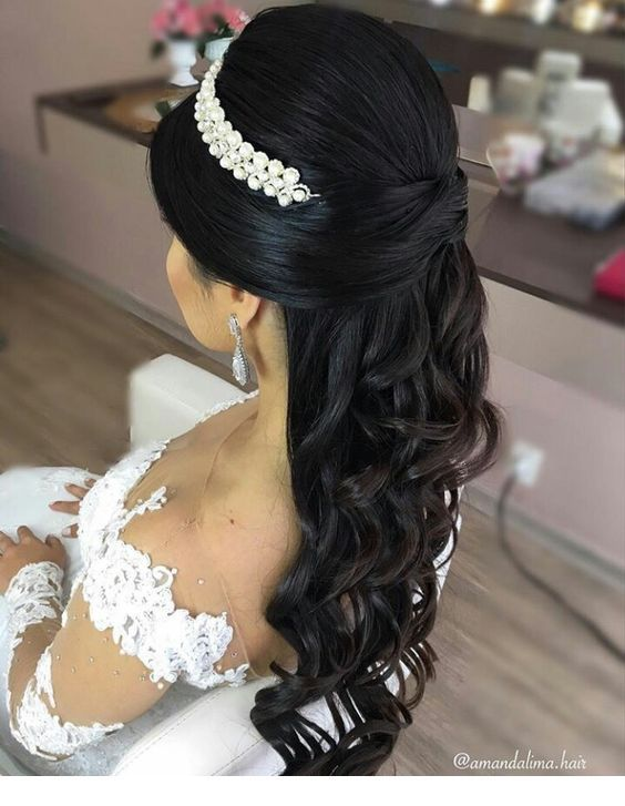 Amazing black hair hairstyle for bride