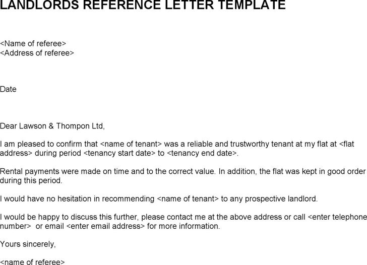 Rental Reference Letter Example 7 Rental Reference Letter - landlord reference letter