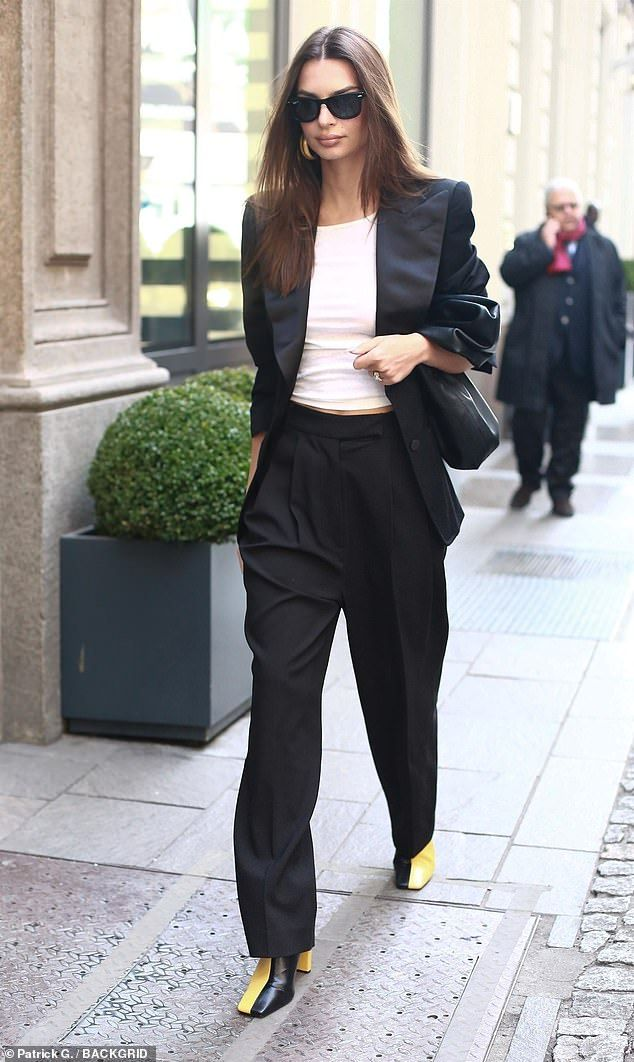 Wow:Earlier in the day Emily showcased her sartorial prowess in one of the most fashionab...