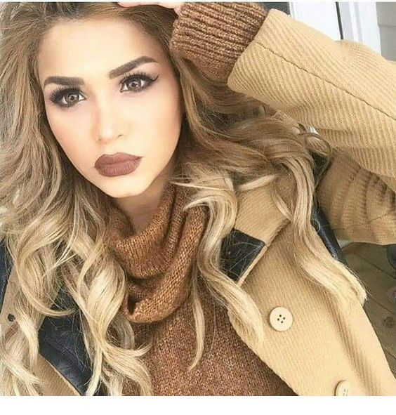 Chic brown look for fall