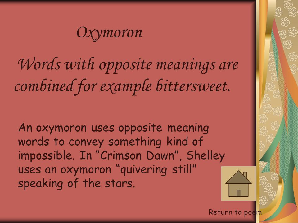 Oxymoron Love Poems Examples Poemview