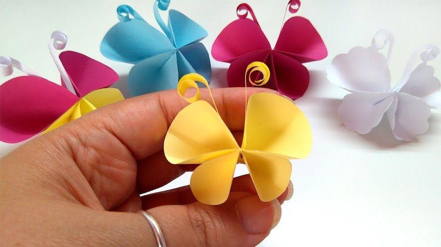 Mariposas de papel, ¡facilísimas!