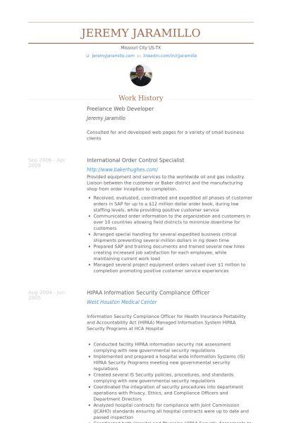 hippa compliance officer sample resume node2002-cvresume