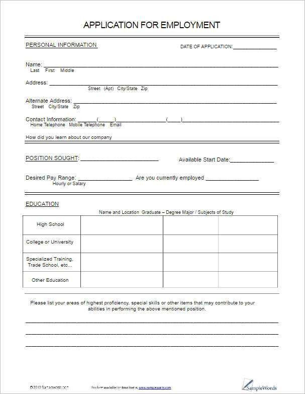 Employee Information Form Sample 12 New Hire Processing Forms Hr - contact form template word