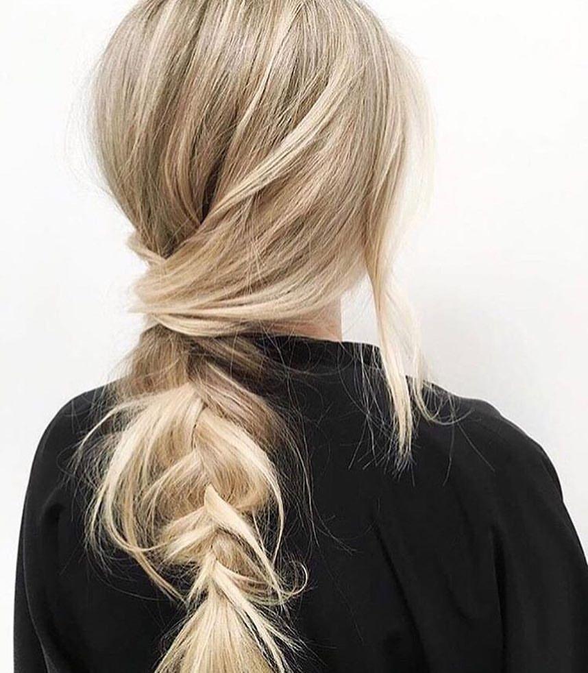 My favorite wedding hairstyle… the messy braid or updo! Love this blonde look via @rimearodaky 🙌🏼