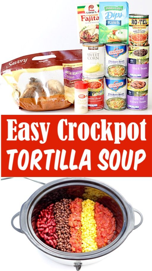 Chicken Tortilla Soup Recipe - Easy Crockpot Southwest Soup!  This hearty dinner will become a fast family favorite, and makes great leftovers, too!  Go grab the recipe and give it a try this week!