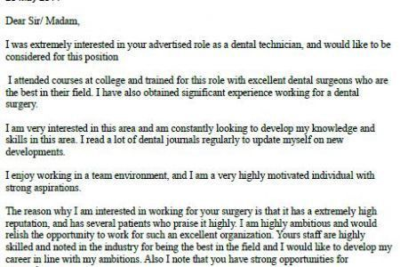 Dentist Cover Letter Dentist Cover Letter Example - ophthalmic technician resume