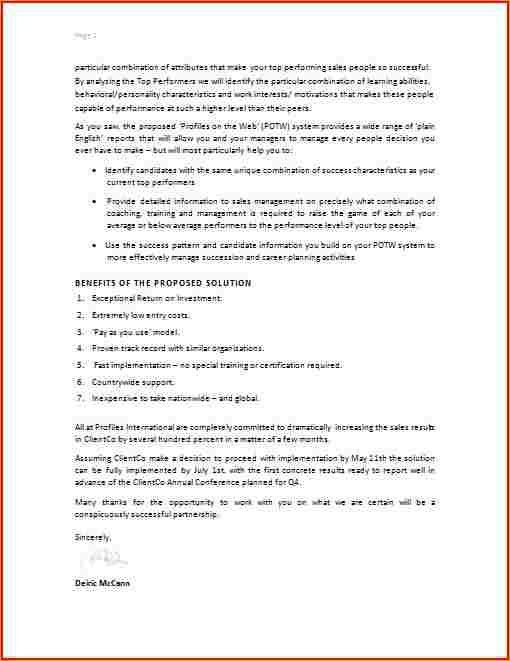 Work Proposal Letter Business Proposal Letter, 30 Business - work proposal