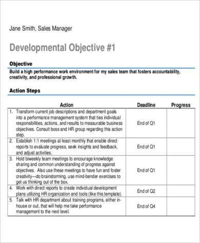 Sales Management Plan Template Free Action Plan Templates - sales plan example