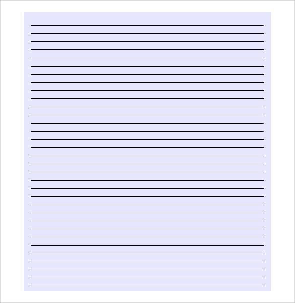 Lined Paper Background For Word Lined Paper Template Free Premium - lined paper pdf