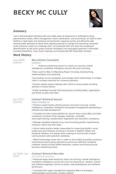 recruiting resume node2001-cvresumepaasprovider - recruitment consultant resume