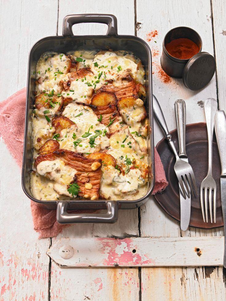 Bratkartoffelauflauf mit Schnitzel von funnymelle   Chefkoch