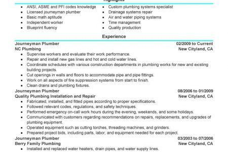 Pipefitter Resume Examples Unforgettable