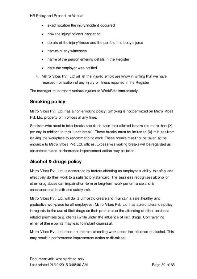 Policies and procedures manual template free manual templates - safety manual template