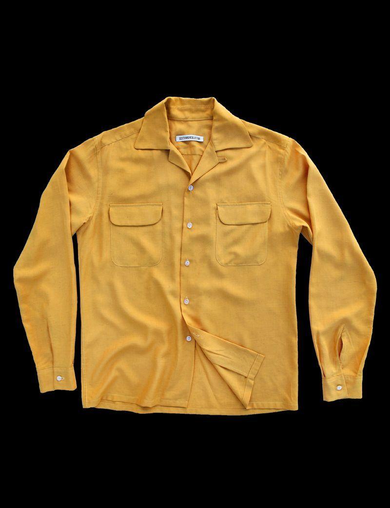 Ochre Cuban collar shirt – Scott Fraser Collection