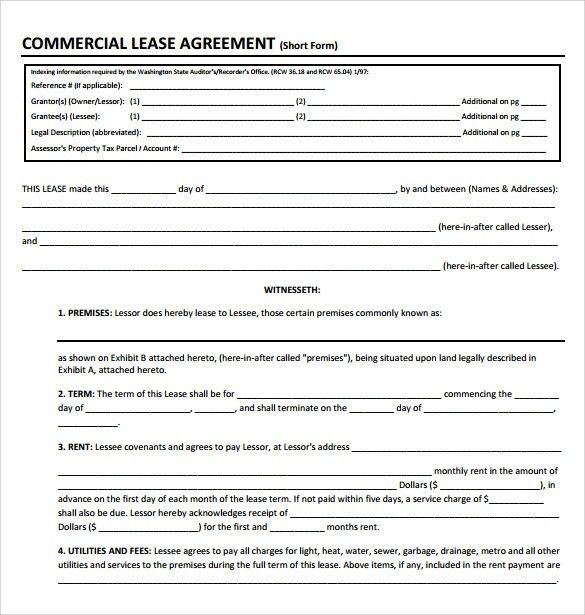 13 commercial lease agreement templates excel pdf formats - sample office lease agreement