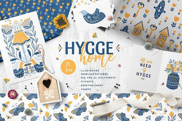 Hygge Home collection by DariSmartArt on @creativemarket